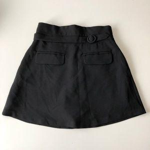 Storets Belted Mini Skirt in Black